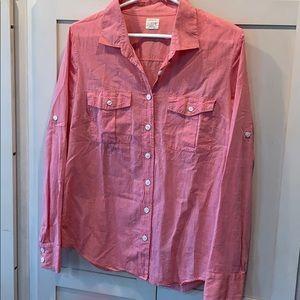 💐5/25 J crew the perfect shirt button down medium